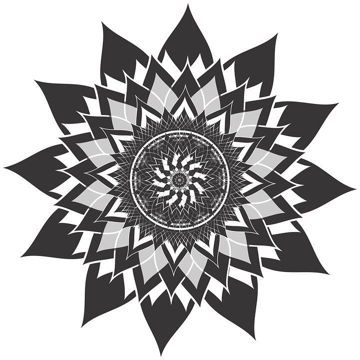 Мандала, Цветок, Лотос, Сбор, Цвести, Медитация