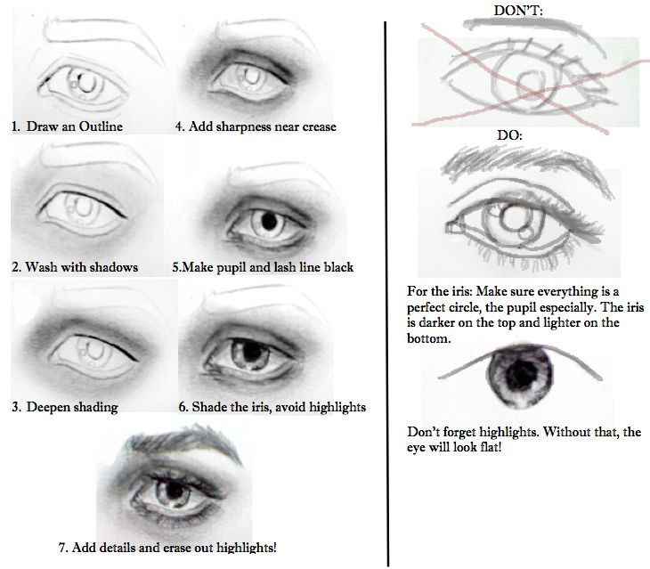 How to Draw a Realistic Female Eye 10 Steps   Drawing Eyes ...