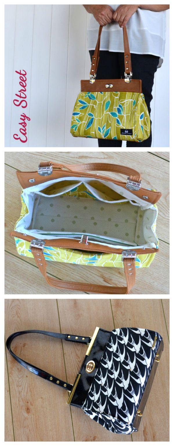Instant digital download. Daryl's Drive Designer Handbag Pattern Sew & Sell.