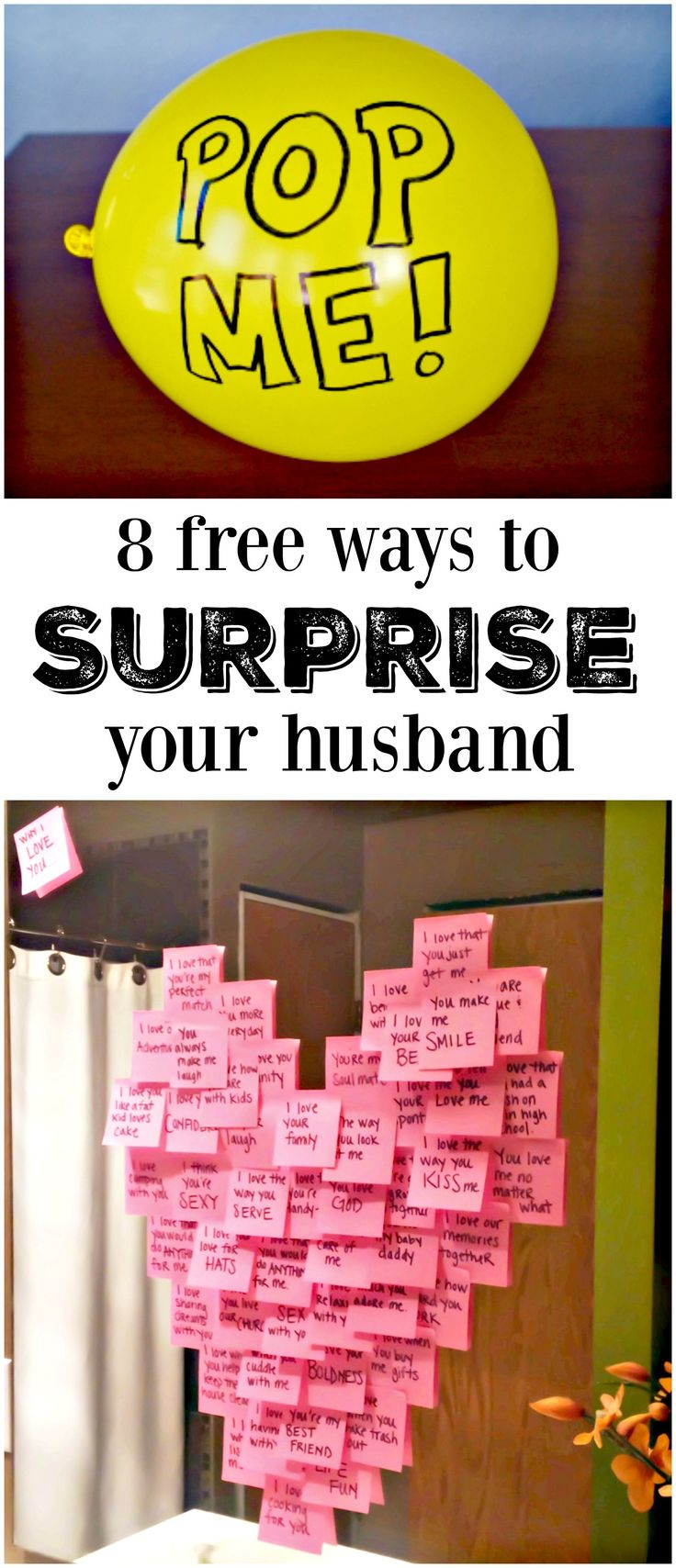 8 free ways to surprise your husband