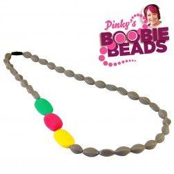 Pinky's Boobie Beads - Grey Nursing Jewellery