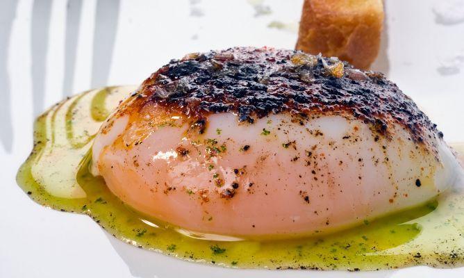Receta de Huevo a baja temperatura con setas y perejil