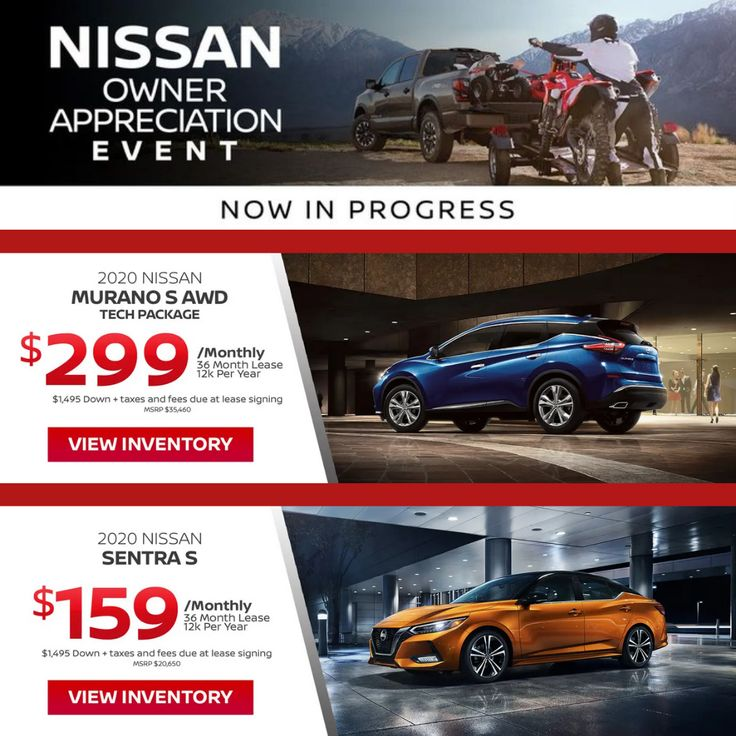 Drive Home In A All New 2020 Nissan Sentra S Or Murano S Awd Today For Just 1 495 Down Tax Due At Signing Here At Southsho Driver Work Nissan Sentra Nissan