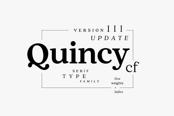 Quincy CF font family by Connary Fagen Type Design on @creativemarket