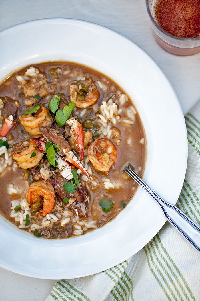 "Looks right! ""Not to toot my own horn...but this recipe for seafood gumbo is delicious."""