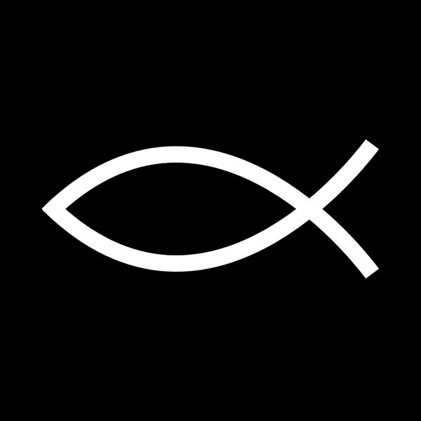 Jesus Fish / Ichthys _ Invented as a secret code for believers, this symbol was a means of survival for early Christians under fierce persecution in Roman times.#animallogo