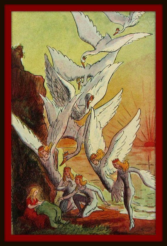 3 Illustrations de contes d'Andersen  Les par SomeVintagePapers