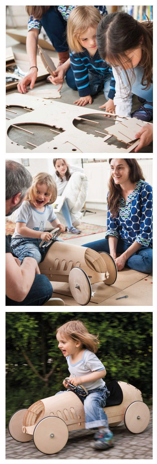 Flink – Wooden push car for self-assembly by phim