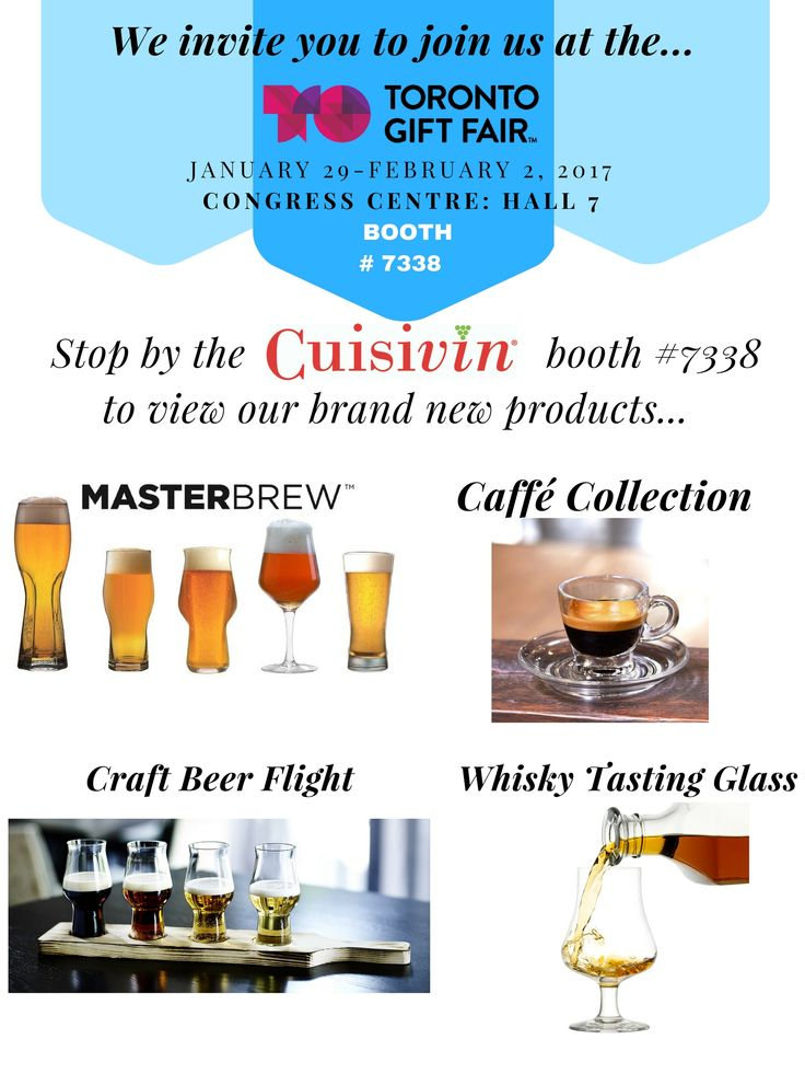 Calling all Canadian Retailers to join us at the Toronto Congress Centre - Hall 7: Booth 7338.  If you would like an appointment please call or email us at info@cuisivin.com 1.877.243.9463. Come visit us and our brand new retail items!
