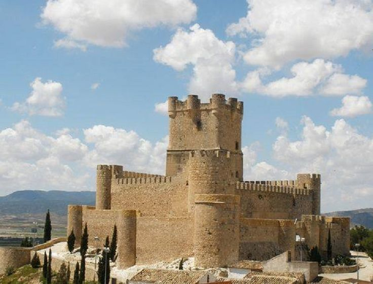 CASTLES OF SPAIN - Castillo de Villena, Alicante. In the former frontier between Castile and Kingdom of Aragon. The castle was built in an unknown age, although not after the 12th century, since Arab sources mention it in 1172. The castle was an important stronghold on the northern frontier of the Islamic emirate of Iberia, and resisted to three different sieges laid by James I of Aragon. He was finally able to conquer it in 1240.