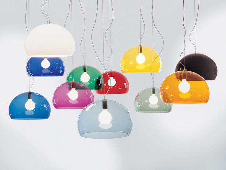 my favourites - white and cobalt blue - kartell fly lamp