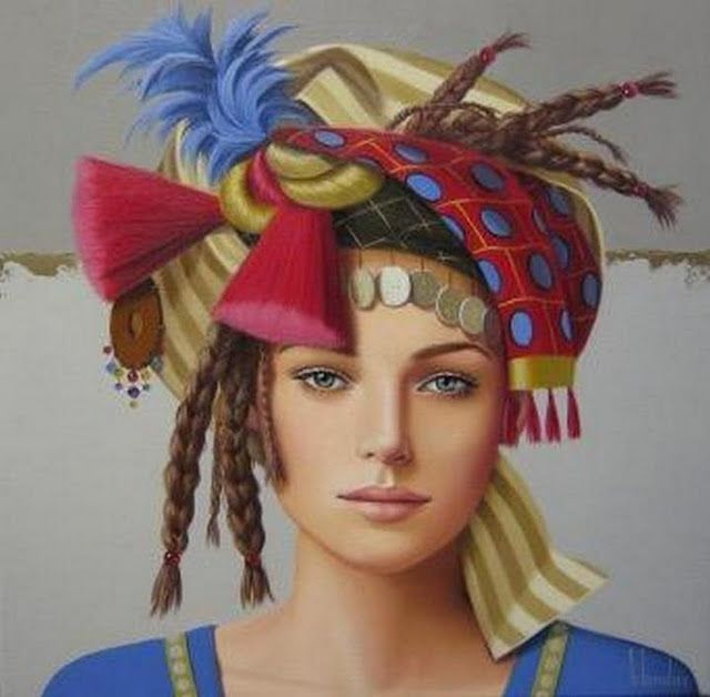 Женский портрет…/ Художник Ginette Beaulieu