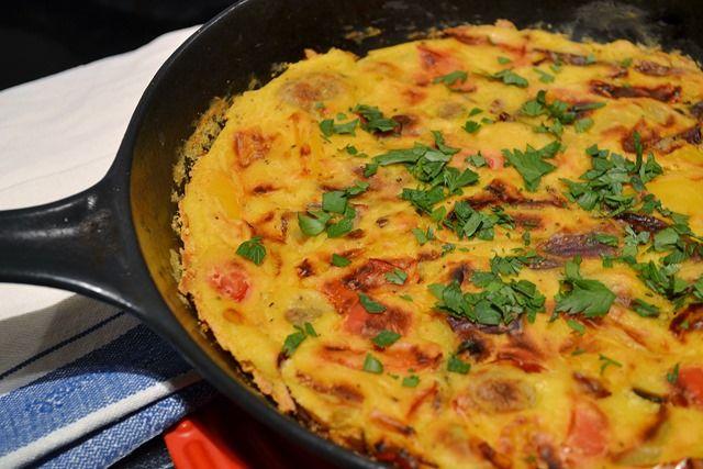 Vegan Roasted Vegetable Frittata   and omlettes