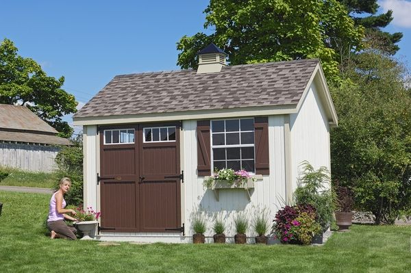 Pinehurst Colonial Wooden Outdoor Garden Shed Kit - 8 x 10 - 8x10 PCGS-WPNK