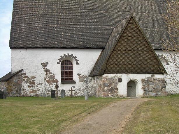 Isokyrö kivikirkko Church build between 1513-1533, build of rocks. 1560 Vicar Jaakko Geet pays the Calk-paintings, these paintings where covered between 1666-1885.