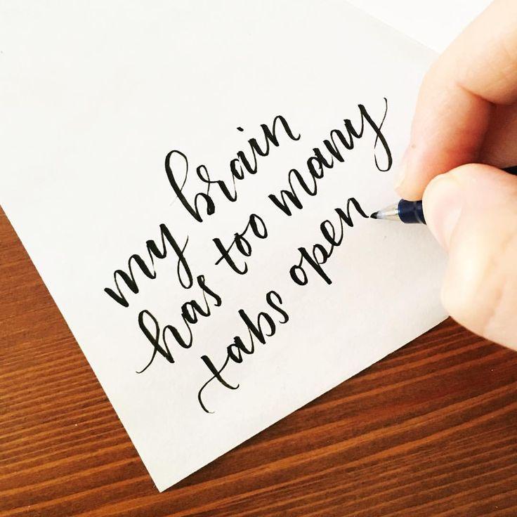 Anyone with me? #toomanytabsopen Pen: Tombow Fudenosuke hard tip