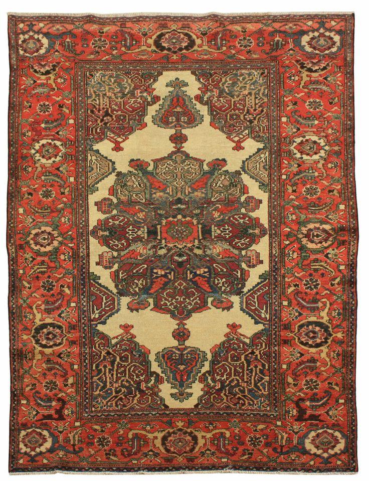 Cod. 8280 Farahan antico 210x125 tappeto persiano antique rug