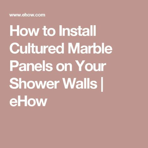 how to clean cultured marble shower walls