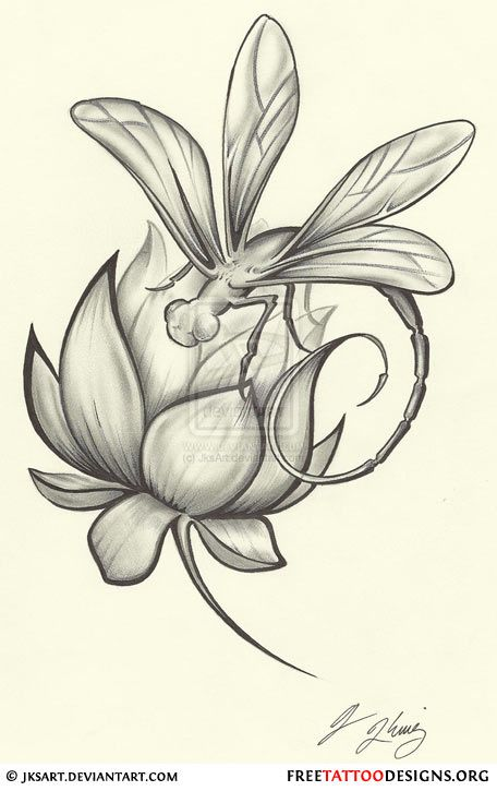 Dragonfly.. maybe with a rose instead though.. could be the base for my eventual side piece..