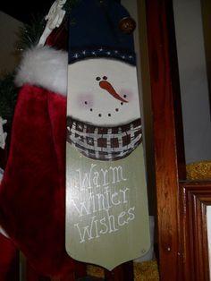 fan blades painte on snowmen - Google Search