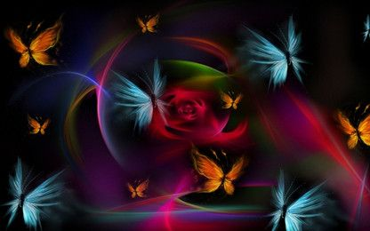 Colorful abstract butterfly background
