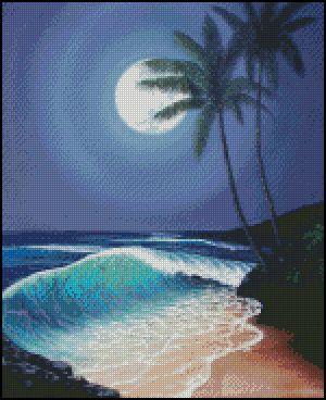 Beautiful ocean scene.... cross stitch