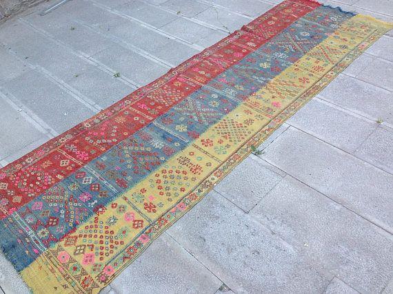 Turkish Kilim Rug  Kilim Rug  Runner Rug  Handmade Rug