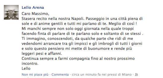 il messaggio di Lello Arena per i 60 anni di Massimo Troisi