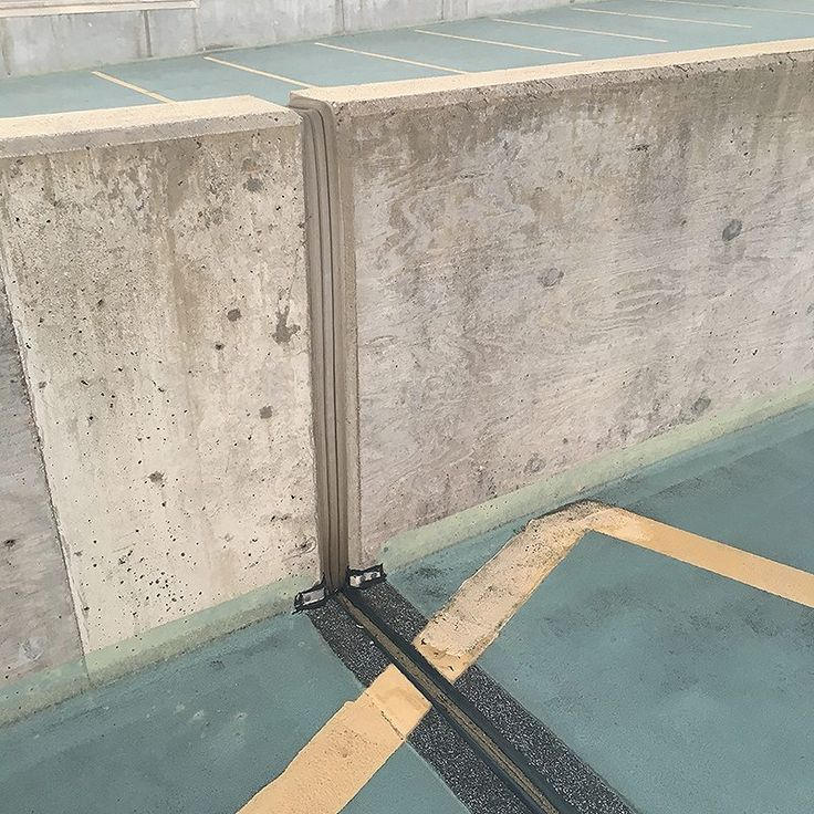 expansion joint concrete wall. parking deck expansion joint thermaflex winged compression seals embedded in elastomeric nosing are durable, watertight concrete wall