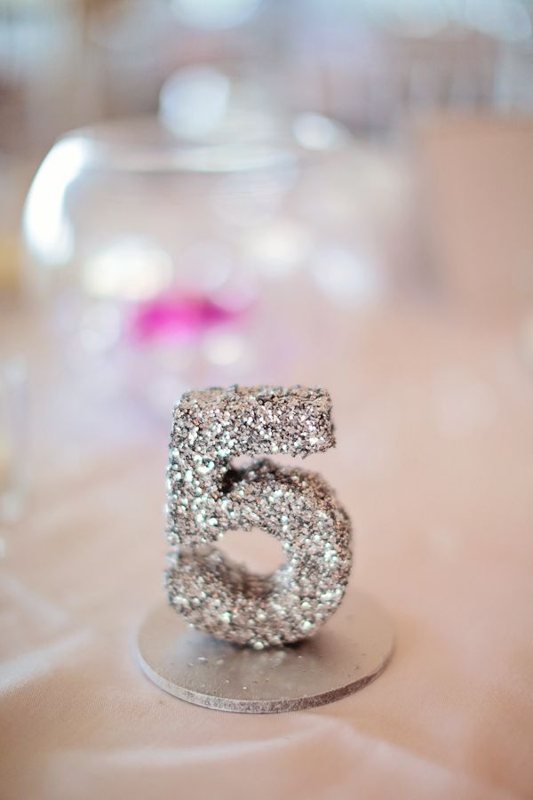 sparkly table number