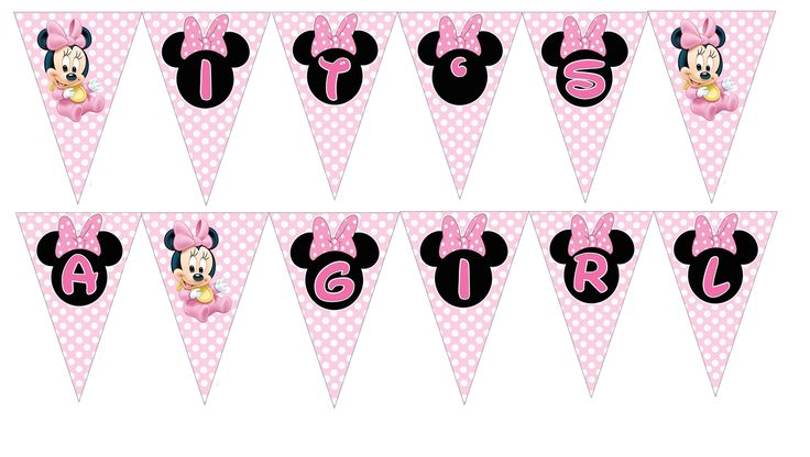 Baby Minnie Banner It's a Girl - Baby Shower Party Supplies - partyexpressinvitations