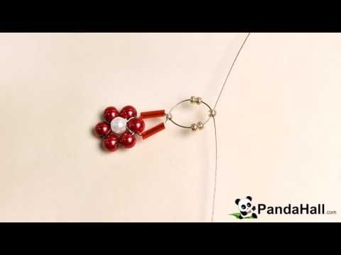 95 PandaHall Tutorial on How to Make Simple Beaded Flower Rings with See...