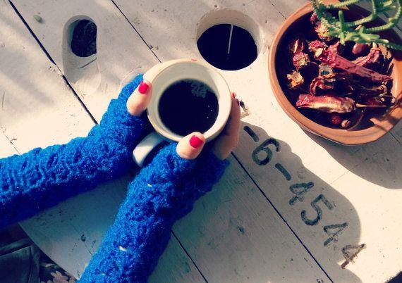 Mitones de ganchillo / Guantes sin dedos de lana por MissGis