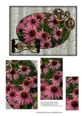 Steampunk Echinacea Pyramid - CUP308016_1416 | Craftsuprint