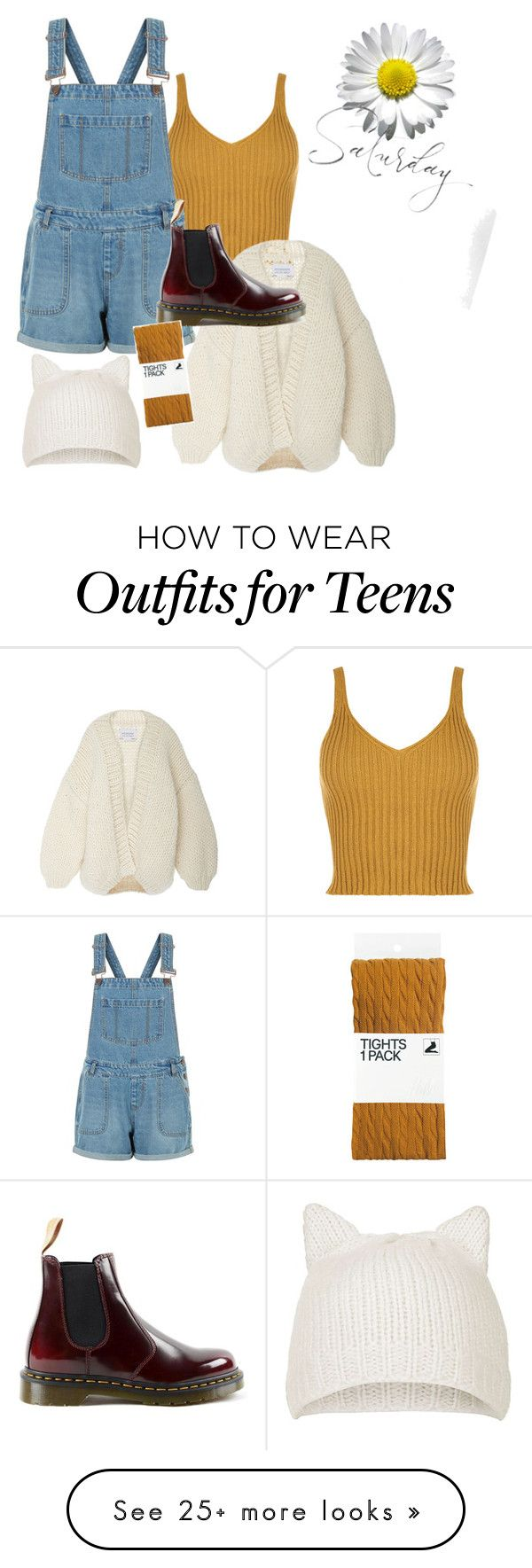 """Satisfy..."" by glittermck on Polyvore featuring WearAll, New Look, I Love Mr. Mittens, Dr. Martens, Topshop and H&M"