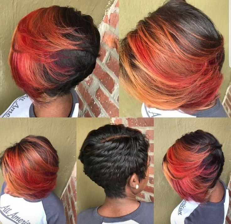 Short Haircuts Ideas Nice Fall Color By Hstylze Blackhairinformat Hair Color Auburn Sparks Hair Color Fall Hair Colors