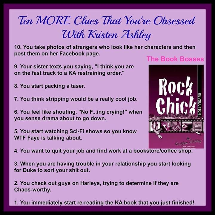 Top 10 more obsessed  list Kristen Ashley Book Bosses