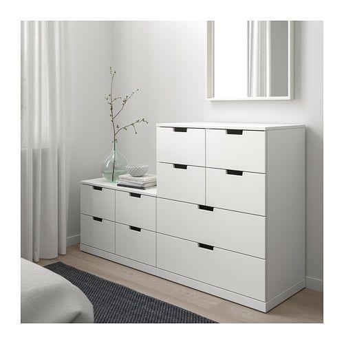NORDLI Kommode med 10 skuffer - hvit - IKEA