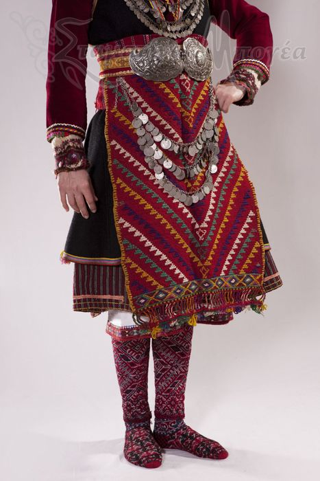 Detail of a traditional festive costume from Serres (Greek Macedonia). Early 20th century.