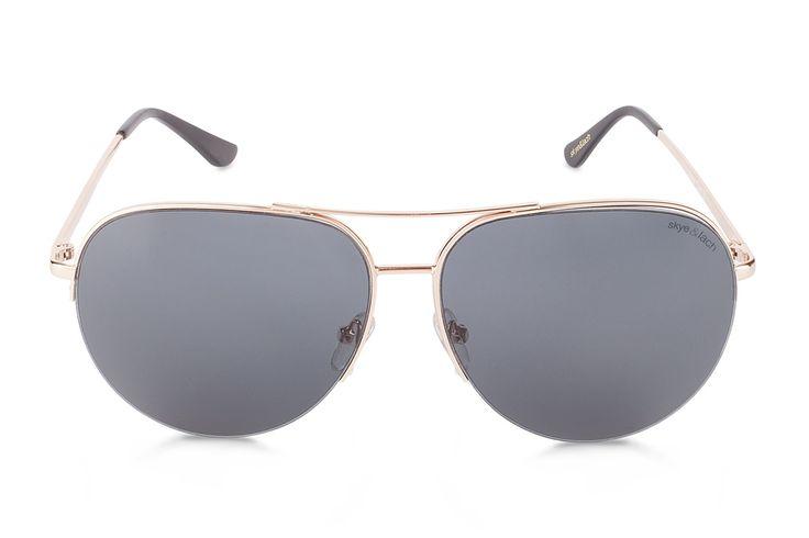 HUSTLE Gold Smoke   Oversized Aviator   Skye & Lach Eyewear