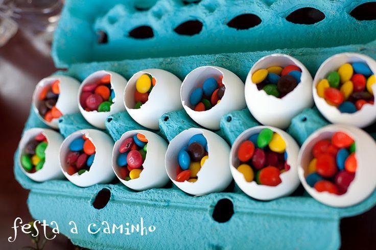 casca de ovo com confete !! Ovos de dinossauro