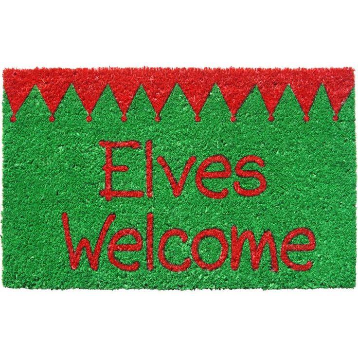 Elves Welcome Non-slip Doormat
