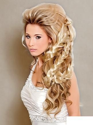 Curly Hairstyles For Long Hair For Wedding : 26 best arabic wedding hair style images on pinterest