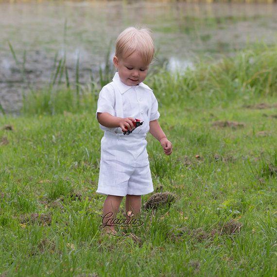 Ropa de bebé niño bautizo trajes anillo portador traje ropa de
