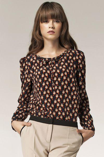 Bluzka+b32+-+wzór/ptaszki+w+NIFE+Fashion+na+DaWanda.com