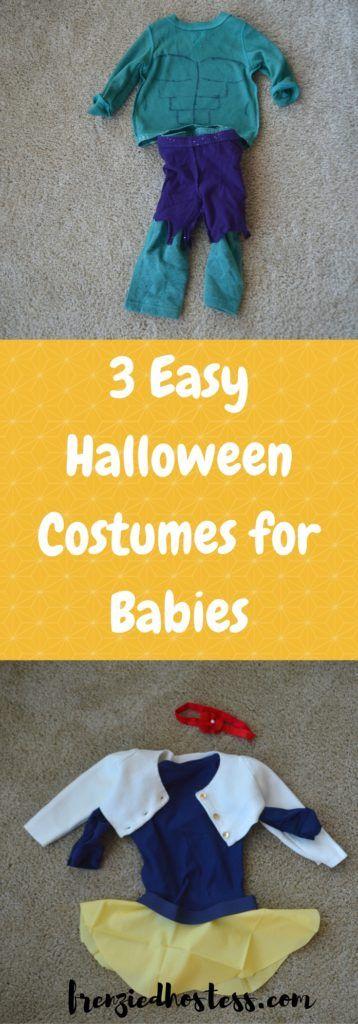 Three easy peasy Halloween costume ideas for babies. #Halloween #HalloweenCostumes #babycostumes #babyhalloweencostumes #DIYcostumes #cheapcostumes #cheapHalloweencostumes