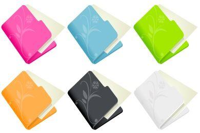 Change desktop icons Flowered Folder Iconset (8 icons) | DaPino
