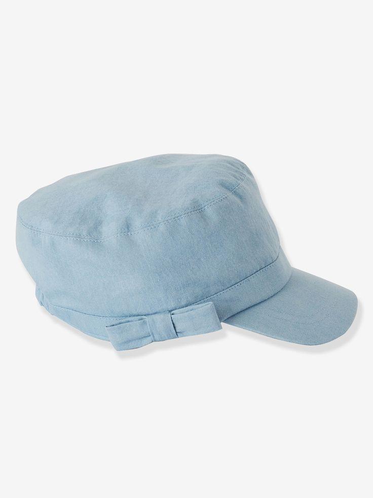 Vertbaudet Sonnenhut für Baby Mädchen, Baumwolle in verwascht hellblau