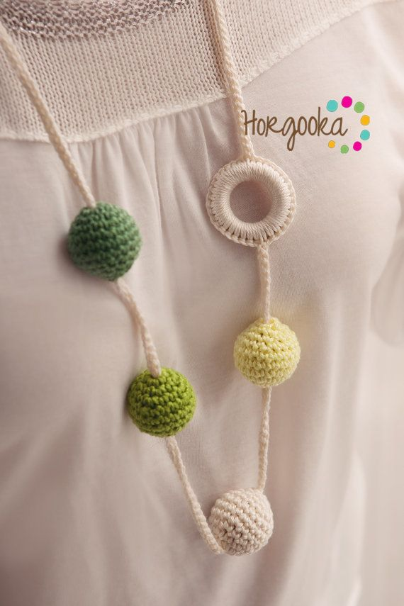 Green Teething necklace ecojewelry natural necklace by Horgooka, $27.00