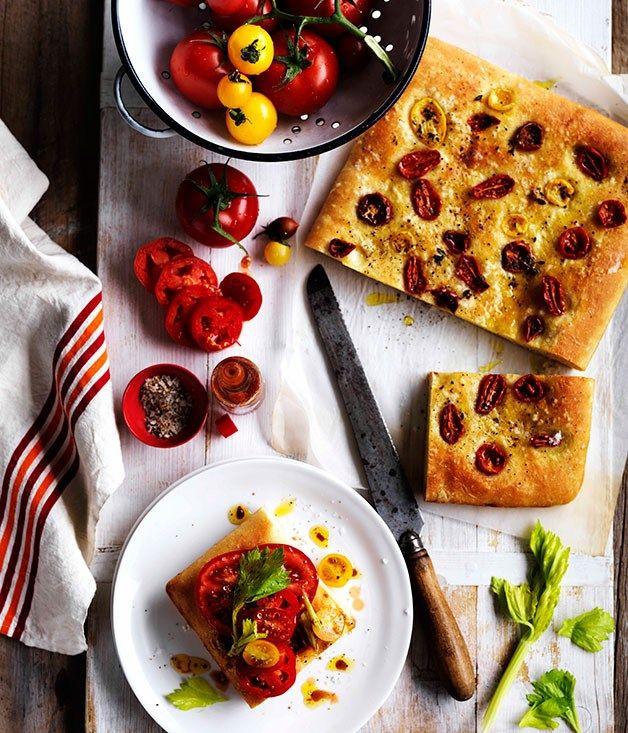 Australian Gourmet Traveller recipe for Tomato sandwich with celery salt and Tabasco